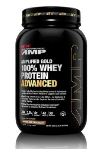 GNC PP Amplified Gold 100% Whey Protein Adv Double Rich Chocolate 2.05lbs