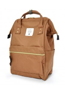 100% Authentic Anello - Classic Backpack Beige Regular Size