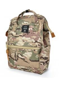 100% Authentic Anello - Classic Backpack Camo Khaki Mini Size