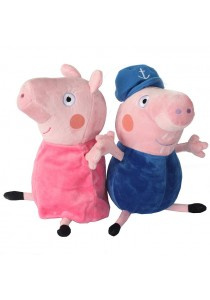 2-In-1 Set Peppa Pig Family Plush Toy- Grandpa and Grandma