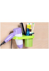 Multipurpose Toothbrush & Hair Dryer Holder- Green