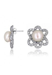 Gryus Fresh Water Pearl Stud Earrings