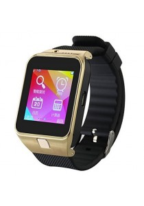 GV09 Smart Watch Phone SIM Call Bluetooth Camera TF Card Andro-Gold