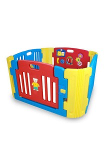 Haenim Baby Play Yard 4 + 4 Panel Blue