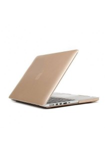 "Hard Protector Cover for Macbook 15.4"" Retina Front & Back - Gold"