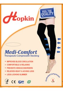 Hopkin Medical Compression Stocking Above Knee (Black) M-L