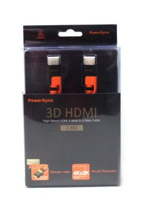 Powersync High Speed HDMI A Male to A Male Cable (1.8M)