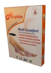 Hopkin Comfy Nightcare Heel Socks (Black)