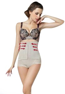High Waist Slimming & Beauty Corset Panties (Beige)