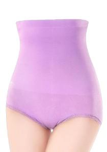 FASHION TEE High Waist Slimming and Shaping Tummy Panty Body Shapewear (Purple)