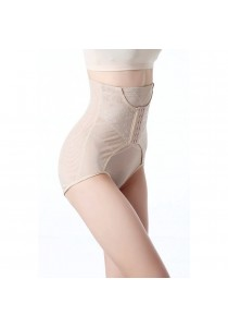 High-Waist Slimming & Firming Girdle With Adjustable Buckle Beige
