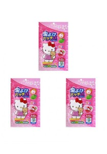 Hello Kitty Mosquito Repellent Patch Sticker 3x packs (Pack of 24 pieces)