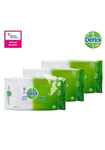 Dettol Anti-Bacterial Wet Wipes 50s X3