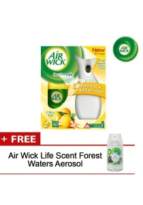 Air Wick Freshmatic Starter (Citrus) 250ml + FOC Air Wick Life Scent Forest Waters Aerosol - 8065038FOC