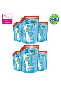 Dettol Shower Gel Cool 900ml Refill Pouch x 6 Pouches