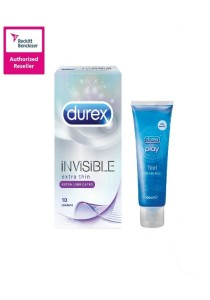 Durex Invisible Extra Lubricated 10s + Play Classic 100ml