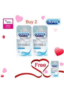 Durex Valentine's Day Special: Buy 2 Get 1 Free! Durex Invisible Extra Sensitive 10s  2+1