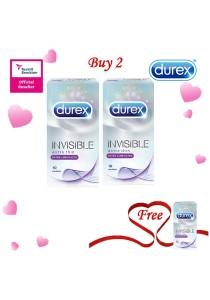 Durex Valentine's Day Special: Buy 2 Get 1 Free! Durex Invisible Extra Lubricated 10s  2+1
