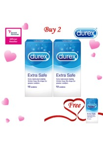 Durex Valentine's Day Special: Buy 2 Get 1 Free! Durex Extra Safe Easy On 12s 2+1