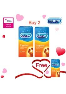 Durex Valentine's Day Special: Buy 2 Get 1 Free! Durex Together Easy On 12s  2+1