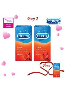 Durex Valentine's Day Special: Buy 2 Get 1 Free! Durex Love condom 12s 2+1
