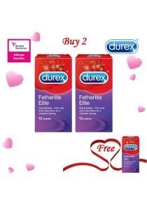 Durex Valentine's Day Special: Buy 2 Get 1 Free! Durex Fetherlite Elite 12s 2+1