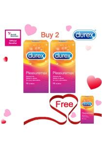 Durex Valentine's Day Special: Buy 2 Get 1 Free! Durex Pleasuremax 12s  2+1