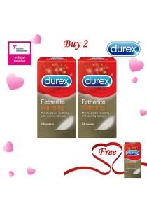 Durex Valentine's Day Special: Buy 2 Get 1 Free! Durex Fetherlite Warming 12s  2+1