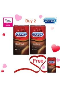 Durex Valentine's Day Special: Buy 2 Get 1 Free! Durex Real Feel 10s  2+1