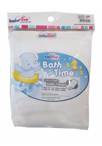 Babylove Bath Towel (White)