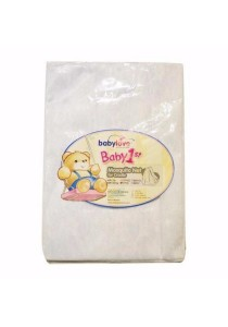 Babylove Cradle Mosquito Net 779 Embroid With String (White)