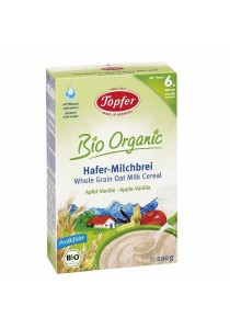 Topfer Bio Organic Whole Grain Oat Milk Cereal (Apple Vanilla)