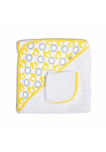 JJ Cole Collection Hooded Towel Set - Yellow Ducks