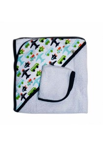 JJ Cole Collection Hooded Towel Set - White Vroom