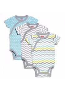 Skip Hop Starry Chevron Side-Snap Short Sleeve Bodysuit Sets (Newborn / 3m+)