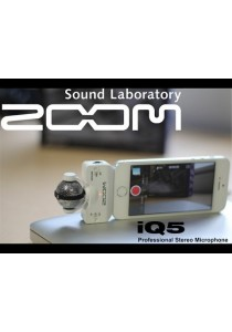 Zoom iQ5 Mic White Color For IOS Devices (Iphone 5)