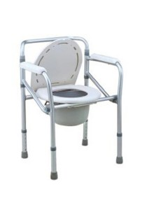 Hopkin Foldable Commode Chair Aluminium