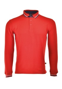 Cotton Polo T Shirt HSL 07 (Red)
