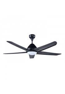"""ALPHA AF20 LED-5b/56 56"""" Ceiling Fan 5 Blades LED (Black)"""