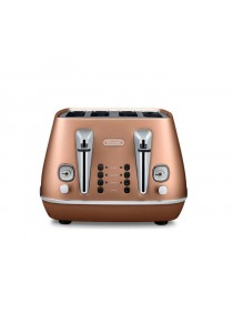DELONGHI CTI4003.CP TOASTER 4 SLICE INDIVIDUAL 2 SLICE OPERATIONS