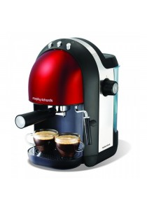 MORPHY RICHARDS 172002 COFFEE ESPRESSO RED