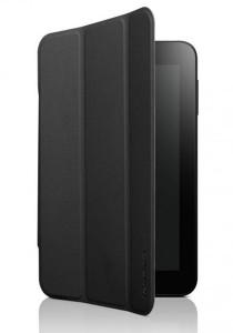 (Genuine) Lenovo A3000 Folio Case and Screen Protector (Black)
