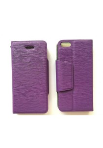 Anymode iPhone 5S Leather Case with Stand (Purple)