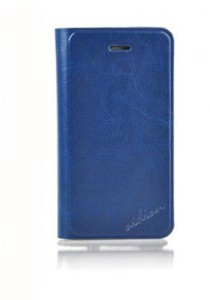 AiDian Leather Case for iPhone 5 (Dark Blue)