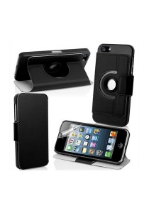360 Degree Rotating Stand iPhone 5 Case (Black)