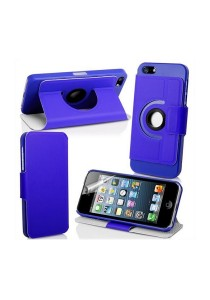 360 Degree Rotating Stand iPhone 5 Case (Blue)