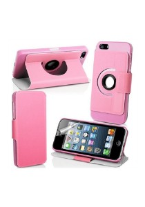 360 Degree Rotating Stand iPhone 5 Case (Baby Pink)