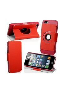 360 Degree Rotating Stand iPhone 5 Case (Red)