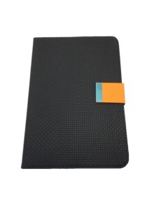 Leather Case with Stand for iPad Mini (Black and Orange)