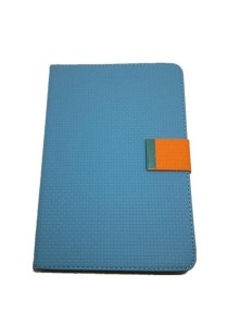 iPad Mini Leather Case with Stand (Blue/Orange)